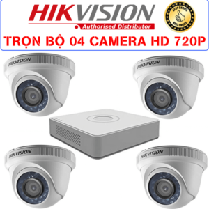 Trọn Bộ 04 Camera – HIKVISION – HD 720p
