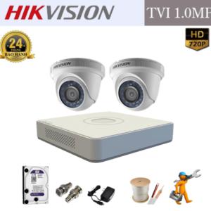 Trọn Bộ 02 Camera – HIKVISION – HD 720p