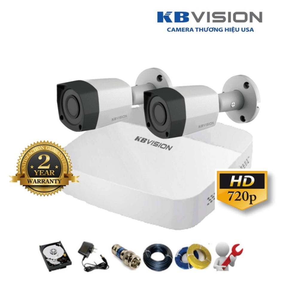 Trọn Bộ 02 Camera – KBVISION – HD 720p
