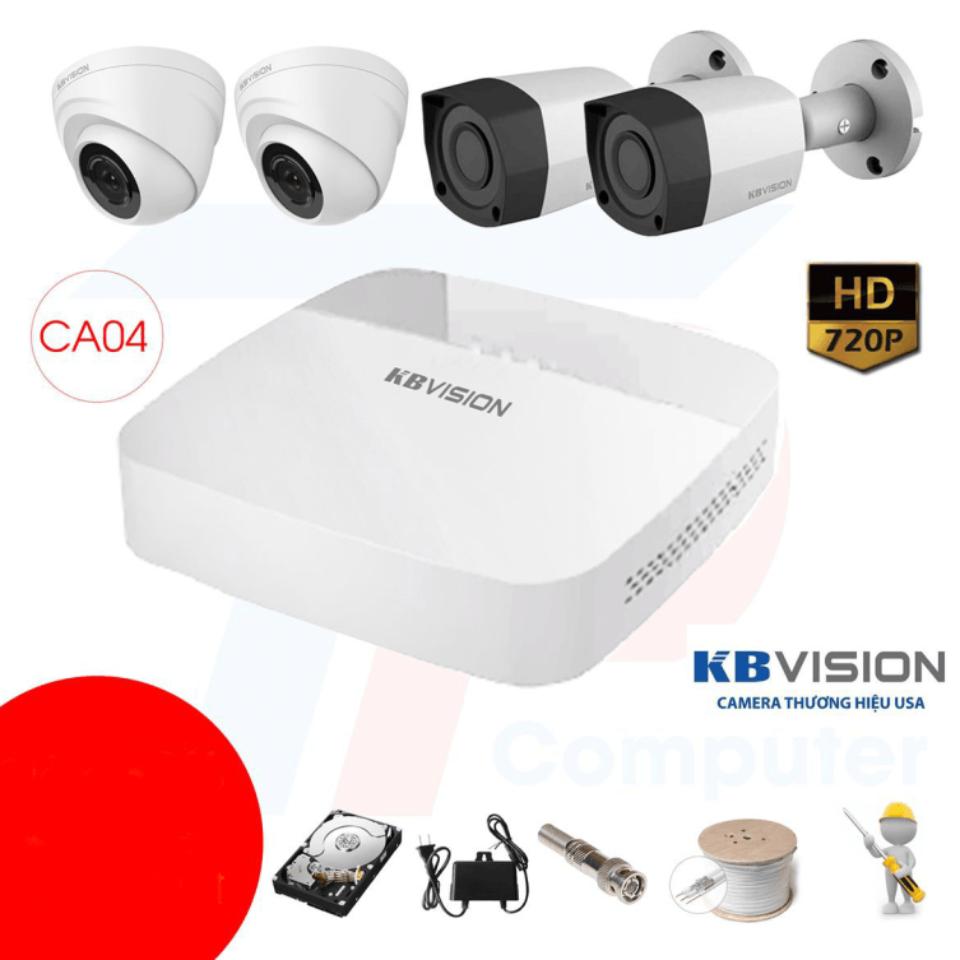 Trọn Bộ 04 Camera – KBVISION – HD 720p